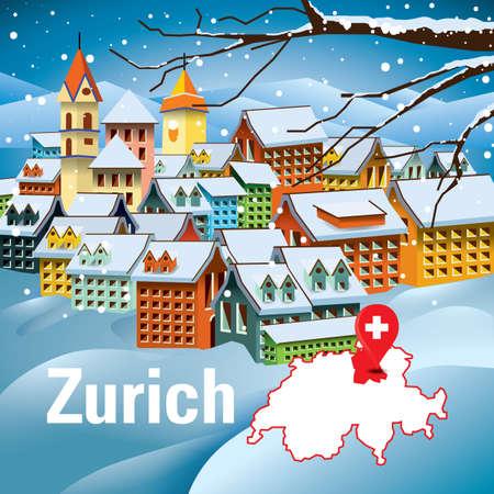 Zurigo, Svizzera Archivio Fotografico - 79222545