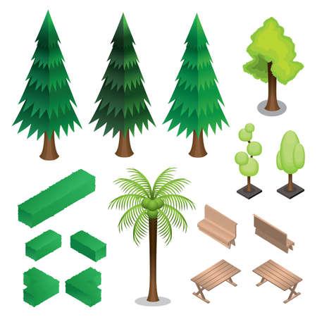 verzameling van isometrische bomen