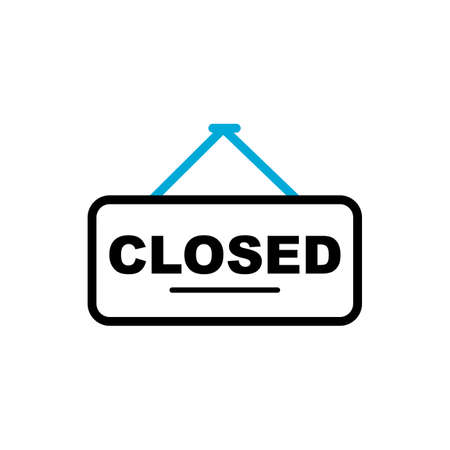 closed sign Ilustrace