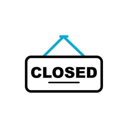 closed sign Illustration