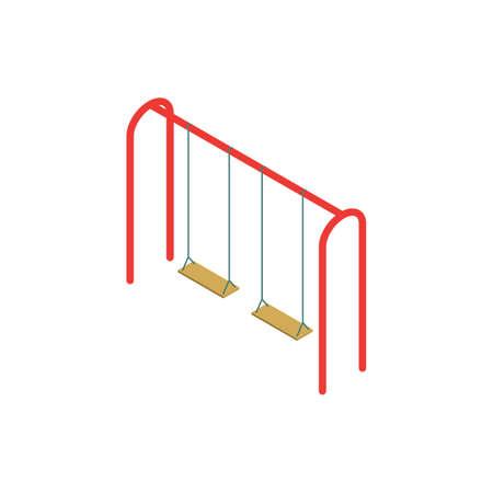 Playground swing. Illustration