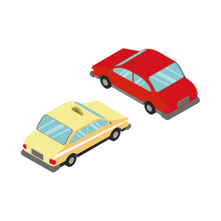 isometrische auto's