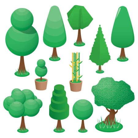 A collection of isometric trees.