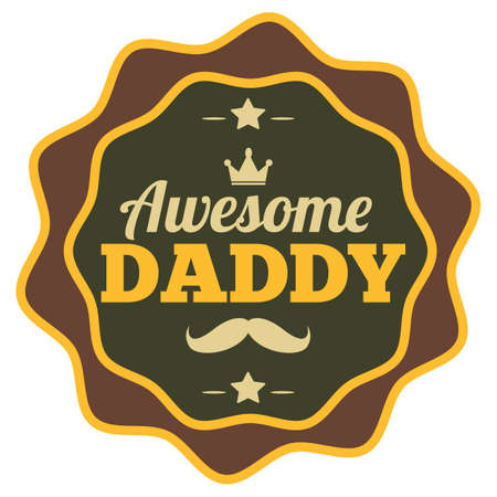awesome daddy label