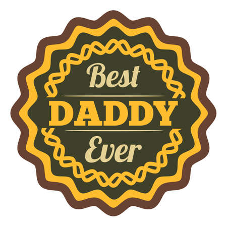best daddy ever label 向量圖像