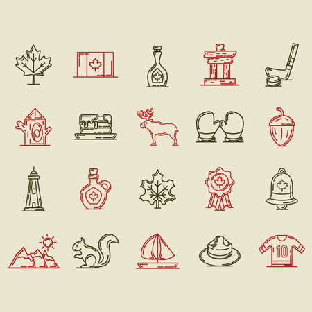 collection of canada icons