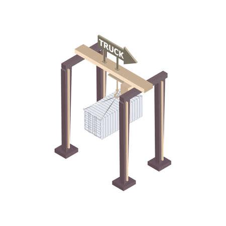 gantry crane Ilustracja
