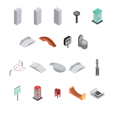 set of isometric icons Stok Fotoğraf - 79217501