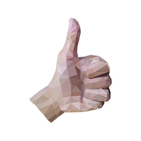 thumbs up gesture