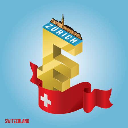 Une Zurich Suisse. Banque d'images - 79222859