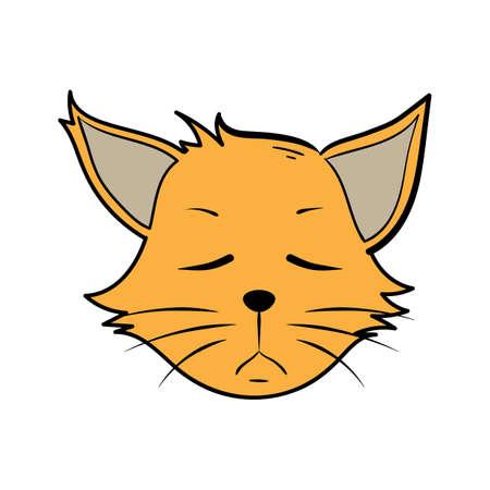 漫画猫感銘を受けない  イラスト・ベクター素材