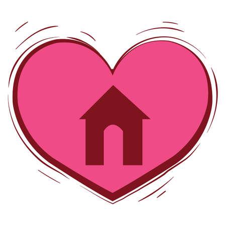 house inside heart