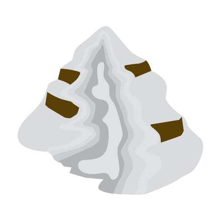 Besneeuwde heuvel