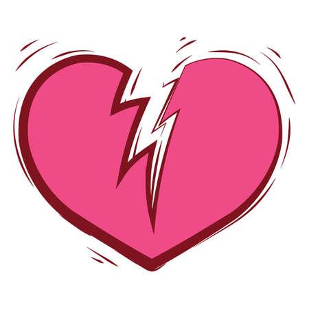 broken heart 版權商用圖片 - 79217774