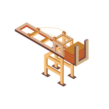 Isometric container crane