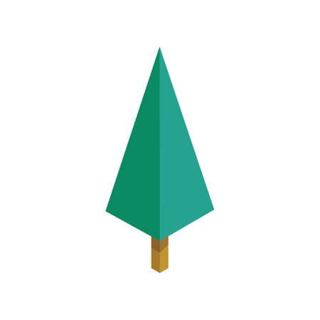 Pine tree. Illustration