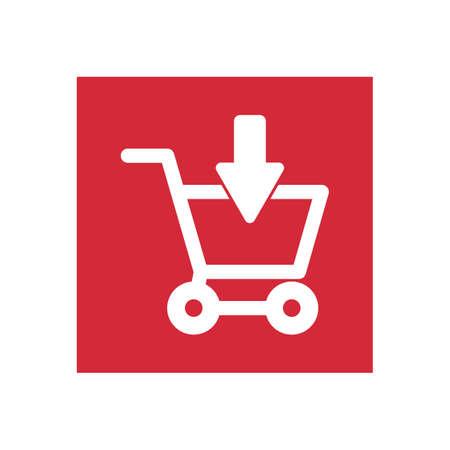download shopping cart symbol 向量圖像