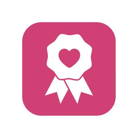 love ribbon badge