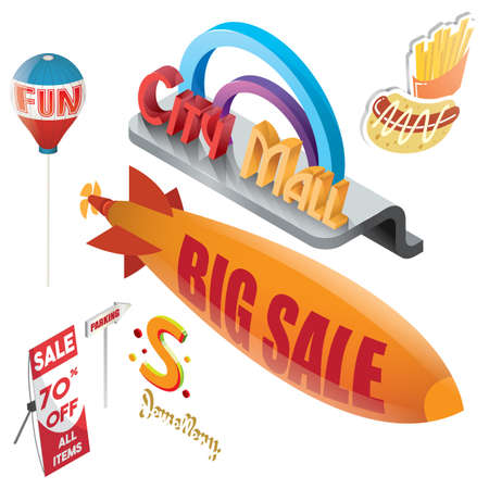 set of sale icons Illustration
