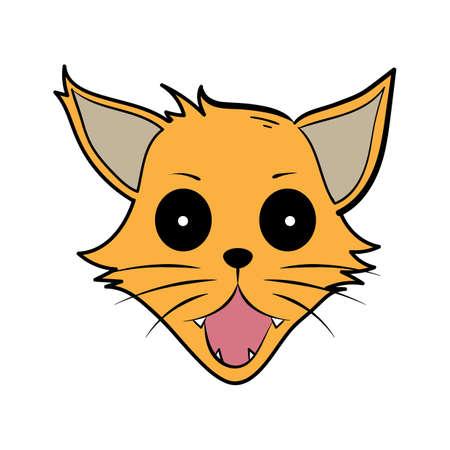 ショックを受けた漫画猫