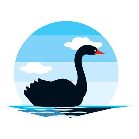 zwarte zwaan Stock Illustratie