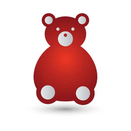 cuddling: teddy bear Illustration