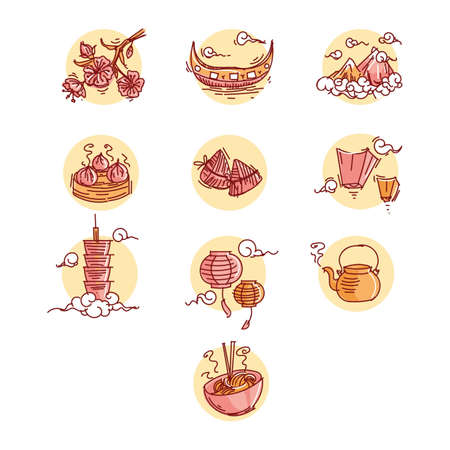set of taiwan icons