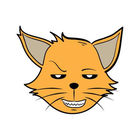 Lelijke cartoonkat Stock Illustratie