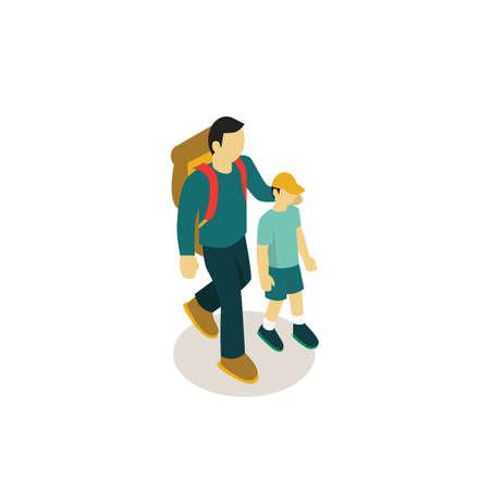 Father and son avatars Иллюстрация
