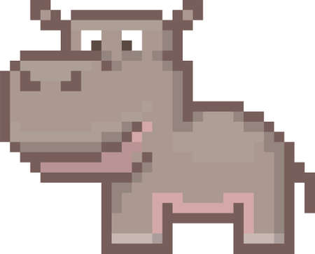 pixel hippopotamus