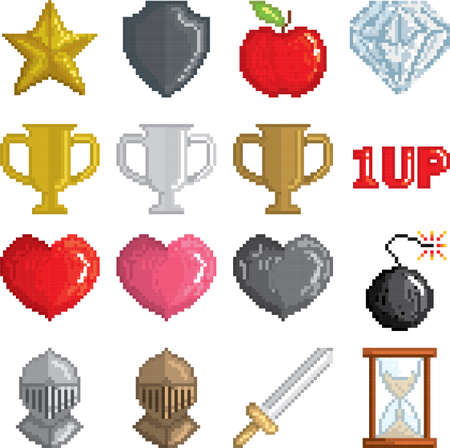 collection of game pixels