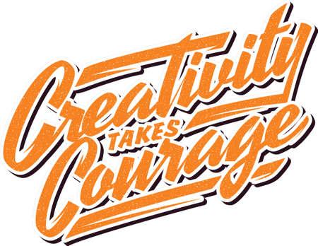 creativity takes courage Illusztráció