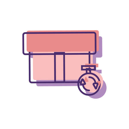 e commerce icon: delivery service concept Illustration
