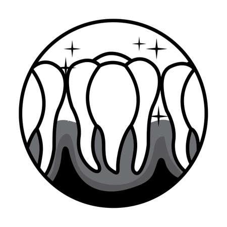 shiny teeth icon Ilustração