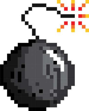 pixel bomb Illustration