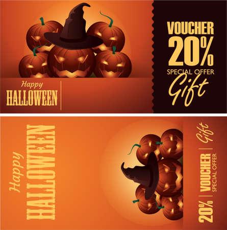 halloween gift vouchers Stock Vector - 79144196