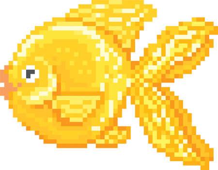 pixel goldfish