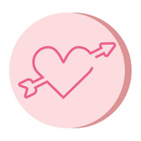 arrow through heart design