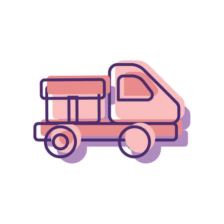 delivery service concept Illustration