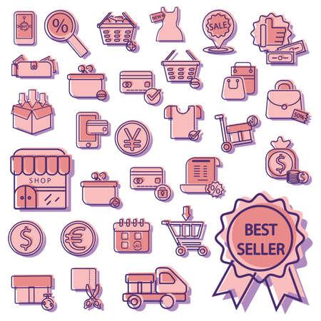set of shop icons Illustration