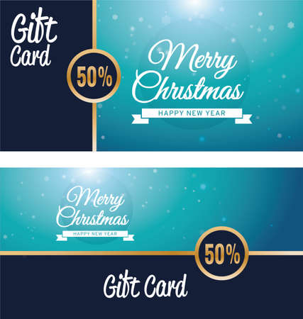 christmas and new year gift voucher Ilustrace