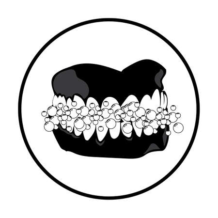 teeth and gum with bubbles