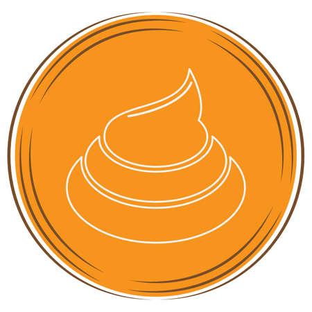 cat poop symbol Ilustrace