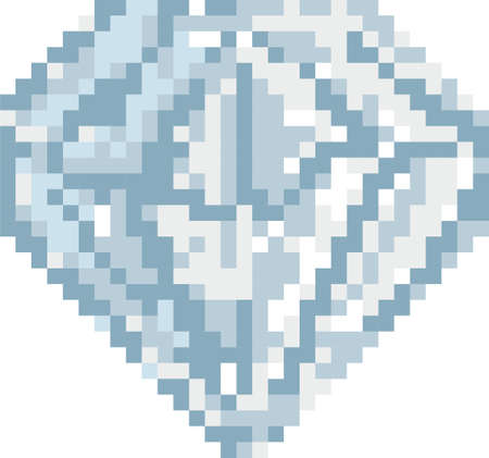 pixel diamond