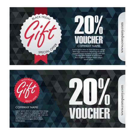 black friday gift vouchers Illustration