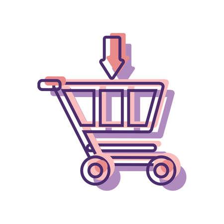 adding into shopping cart symbol Stock Vector - 79218003