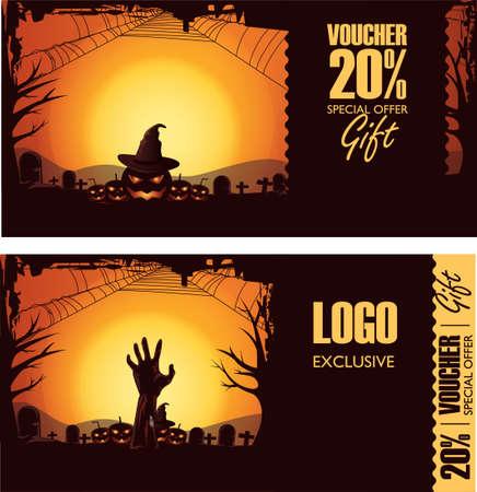 halloween gift vouchers Banco de Imagens - 79144644