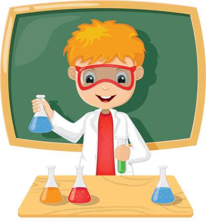 teacher carry out experiment