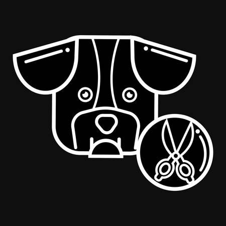 dog grooming Ilustrace