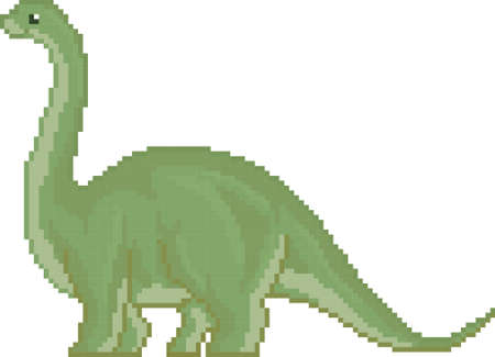 pixel brontosaurus